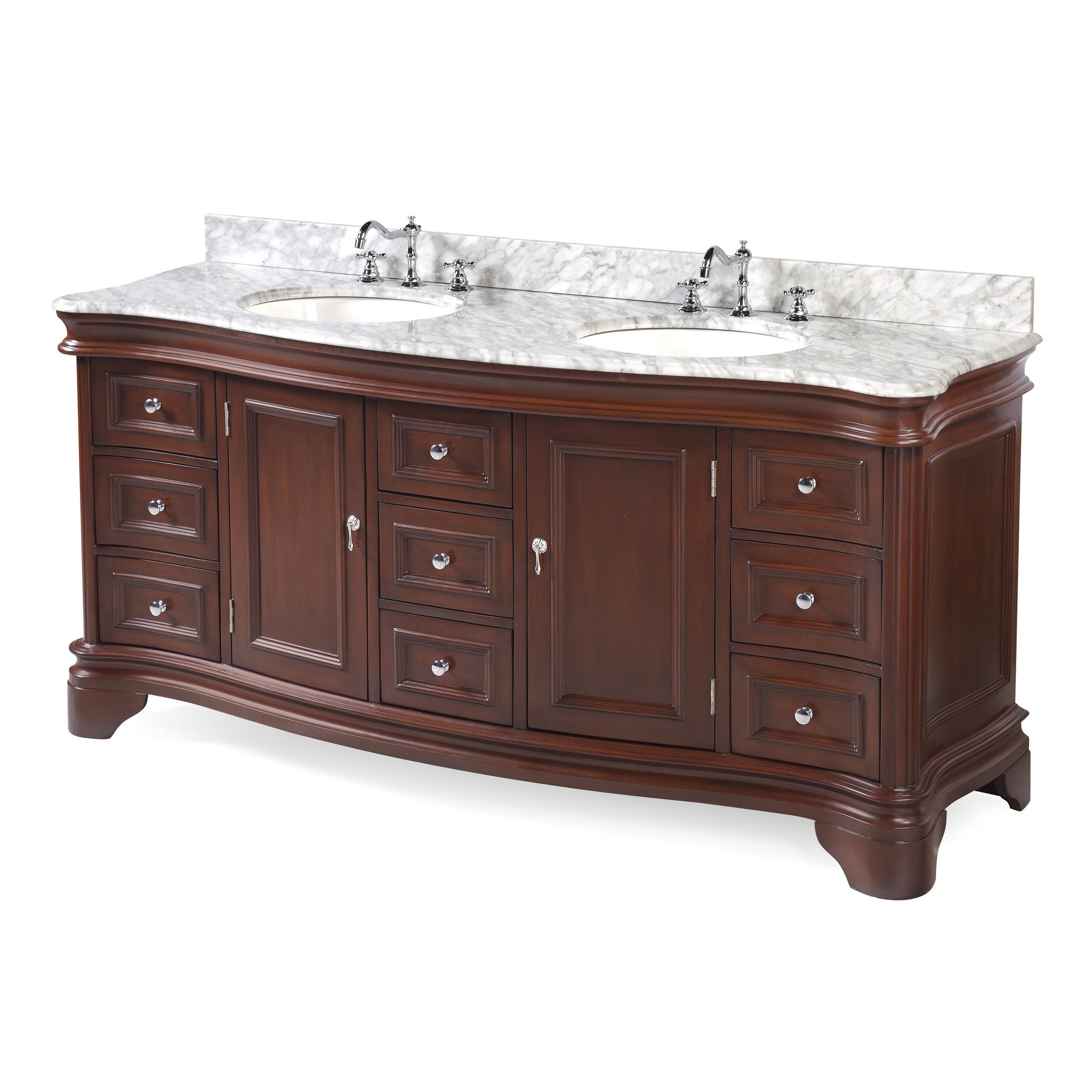 Katherine 72-inch Double (Carrara/Chocolate)