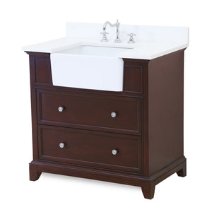 Sophie 36-inch Farmhouse Vanity with Quartz Top