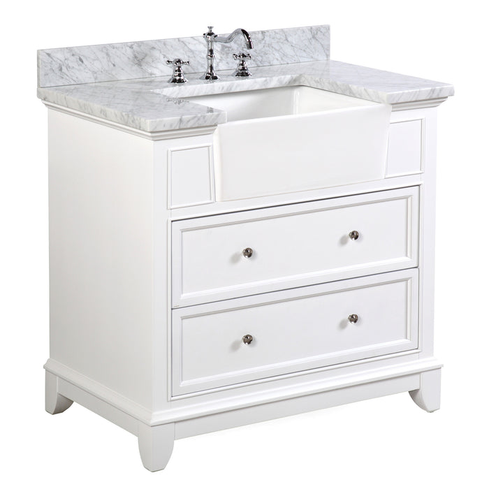 Sophie 36-inch Farmhouse Vanity (Carrara/White)
