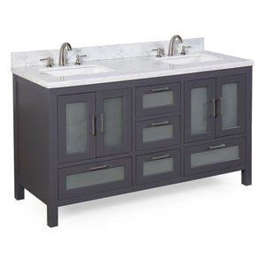 Manhattan 60-inch Double (Carrara/Charcoal Gray)