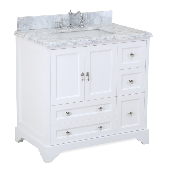 Madison 36-inch Vanity (Carrara/White)