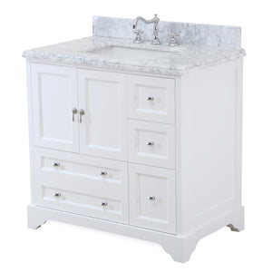 Madison 36-inch Vanity with Carrara Marble Top