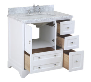 Madison 36-inch Vanity (Carrara Marble)