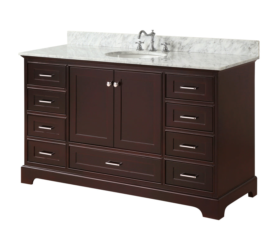 Harper 60-inch Single (Carrara/Chocolate)