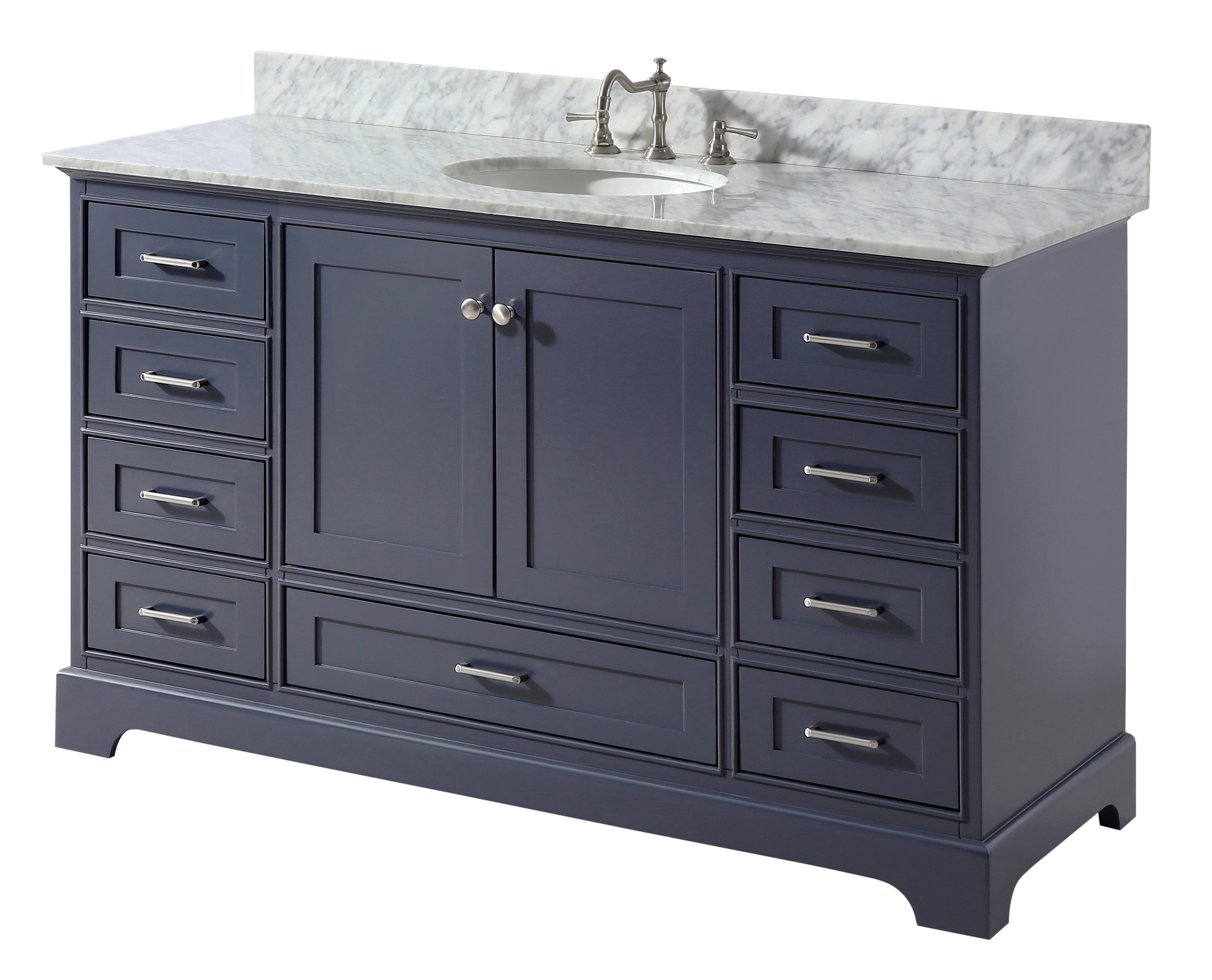 Harper 60-inch Single (Carrara/Charcoal Gray)