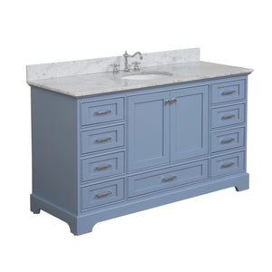 Harper 60-inch Single Vanity with Carrara Marble Top