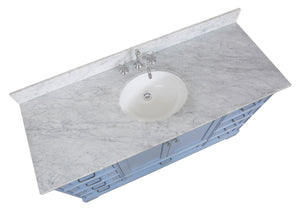 Harper 60-inch Single Vanity (Carrara Marble)