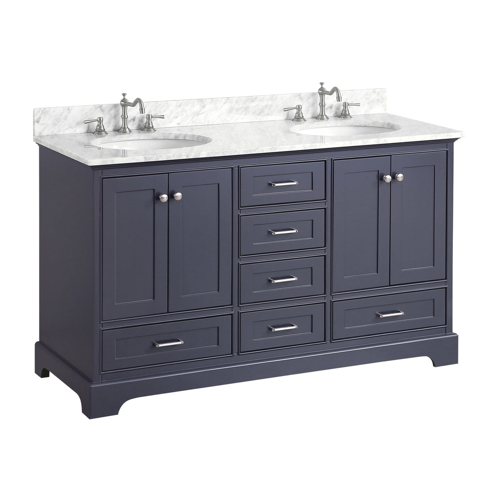 Harper 60-inch Double (Carrara/Charcoal Gray)