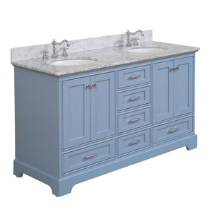 Harper 60-inch Double (Carrara/Powder Blue)