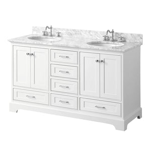 Harper 60-inch Double (Carrara/White)