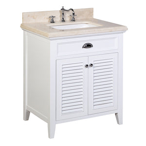 Savannah 30-inch Vanity with Crema Marfil Top