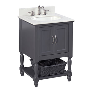 Beverly 24-inch Vanity (Quartz/Charcoal Gray)