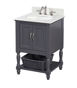 Beverly 24-inch Vanity with Quartz Top