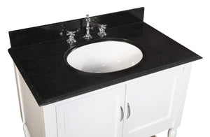Beverly 36-inch Vanity (Black Granite)