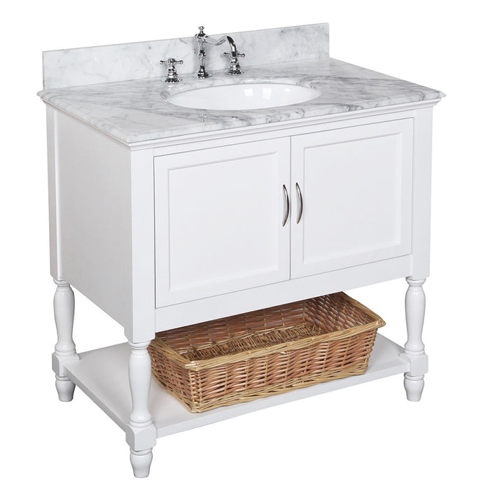 Beverly 36-inch Vanity (Carrara/White)