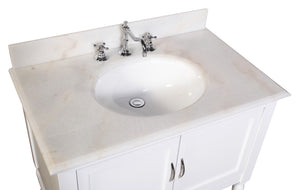 Beverly 36-inch Vanity (White Marble)