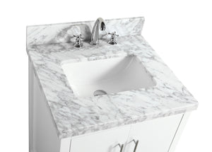 California 24-inch Vanity (Carrara/White)
