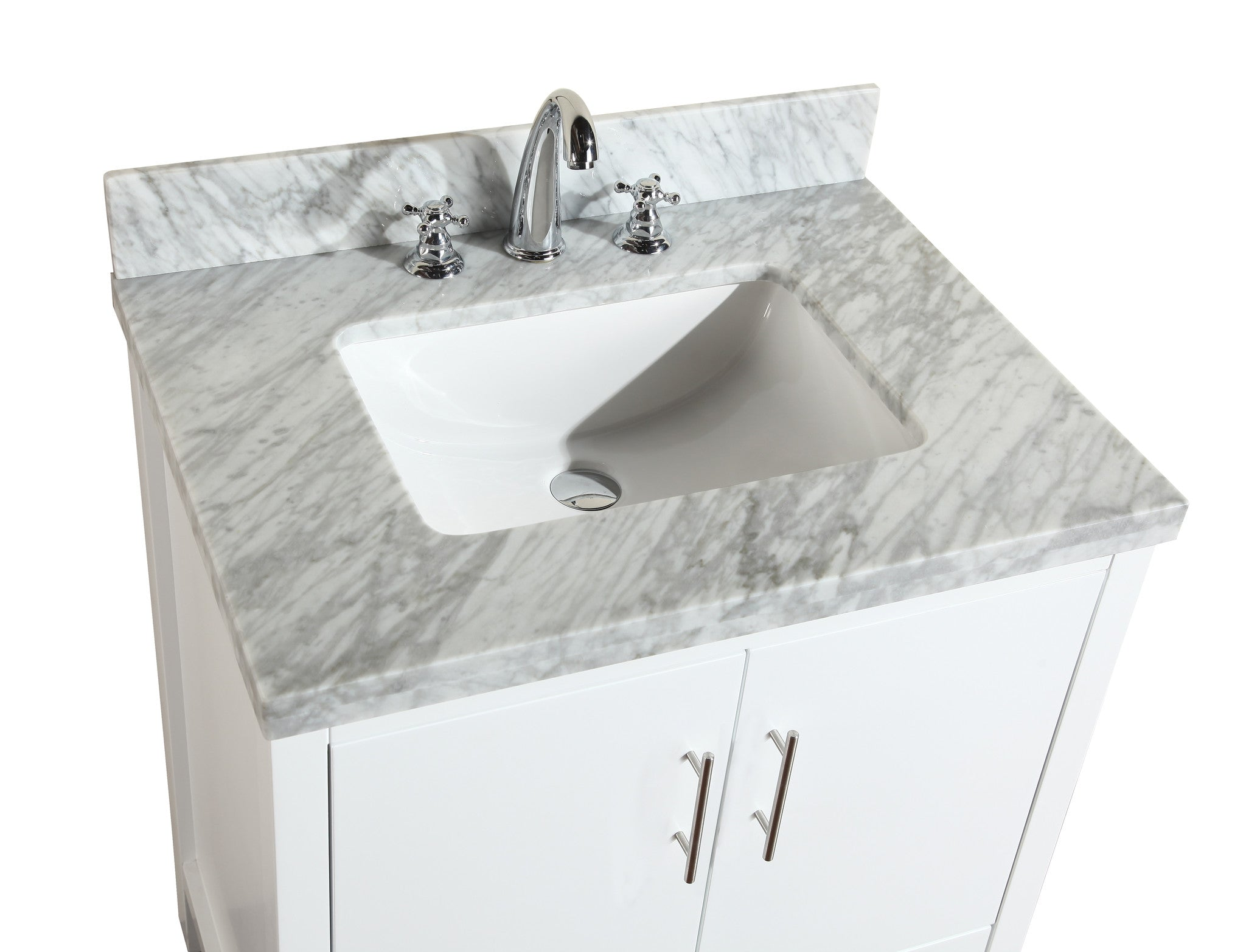 California 30-inch Vanity (Carrara/White)