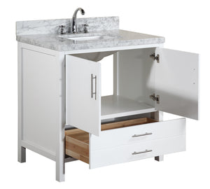 California 36-inch Vanity (Carrara/White)