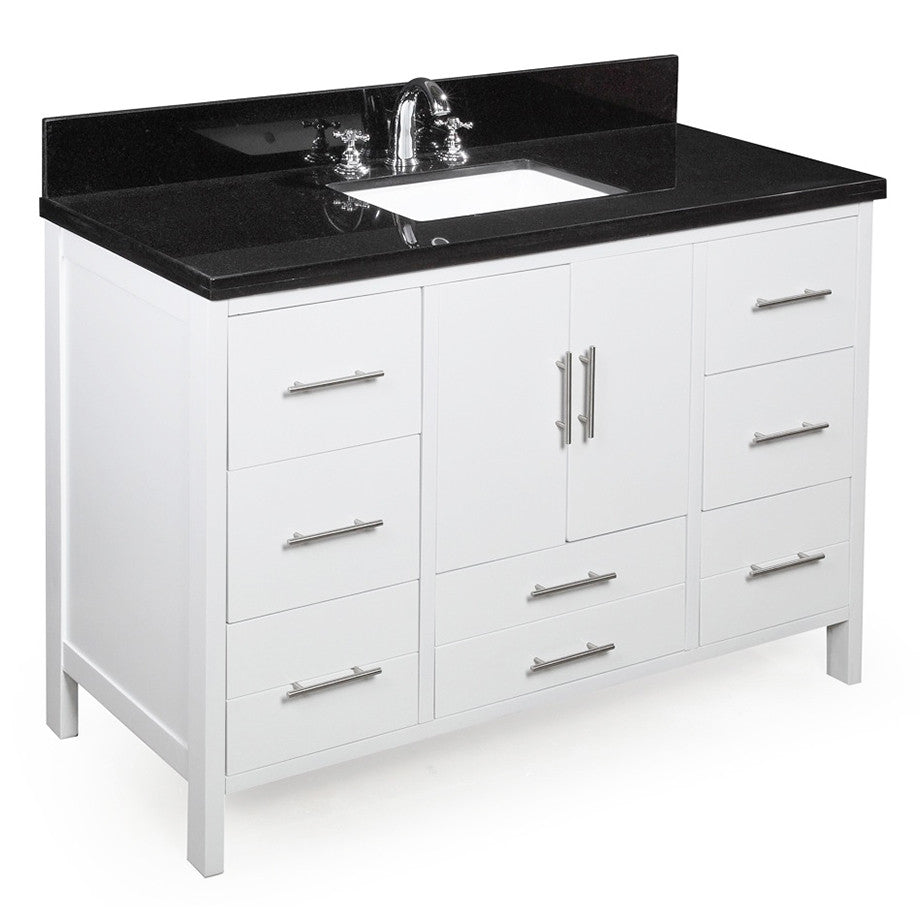California 48-inch Vanity (Black/White)