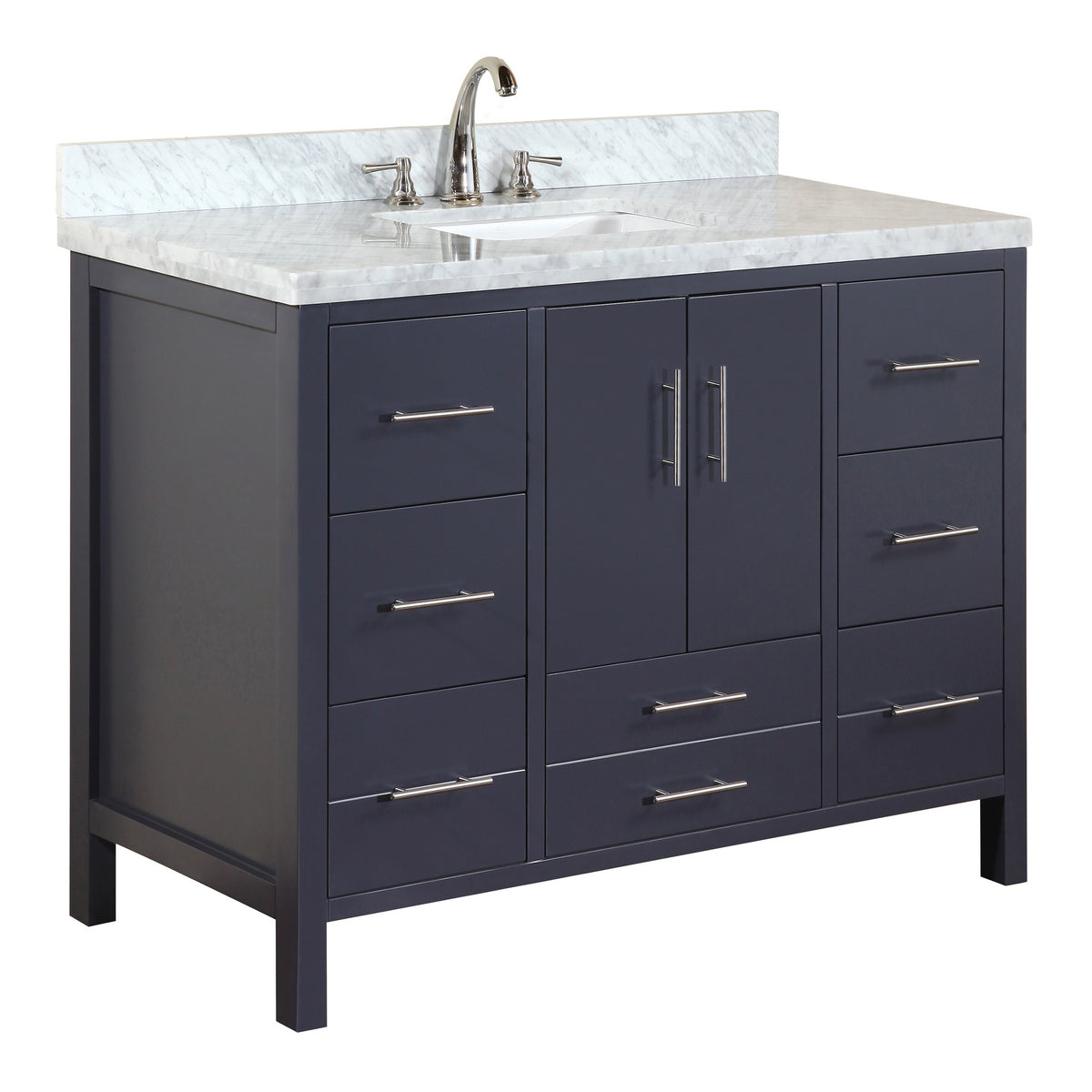 California 48 Inch Vanity Carrara Charcoal Gray