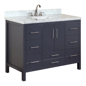 California 48-inch Vanity (Carrara/Charcoal Gray)