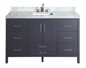 California 60-inch Single (Carrara/Charcoal Gray)