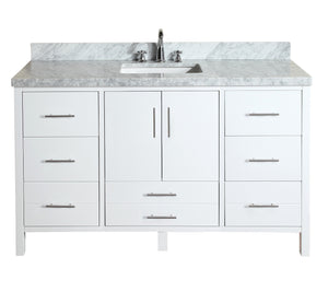 California 60-inch Single (Carrara/White)