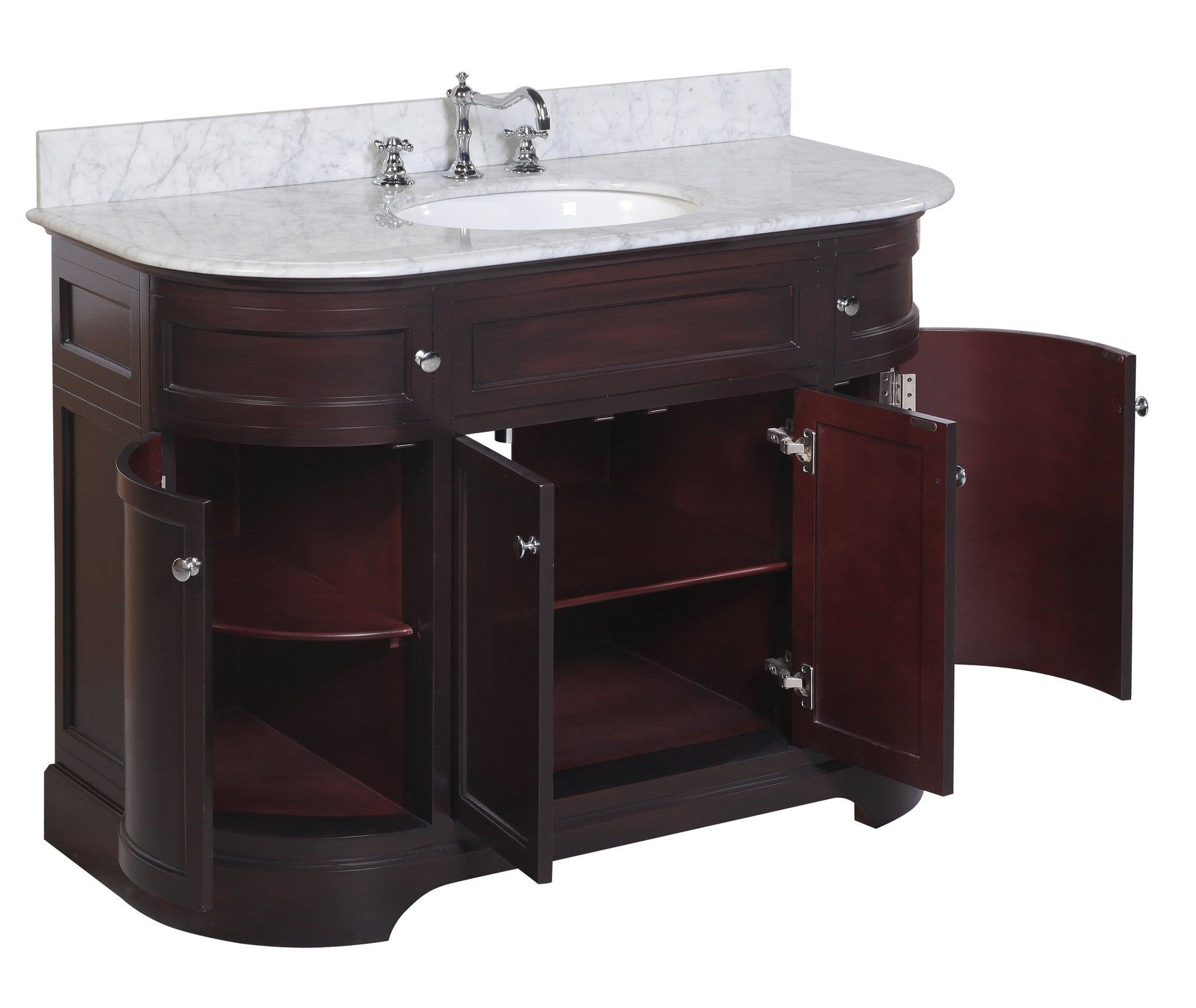 Montage 48-inch Vanity (Carrara/Chocolate)
