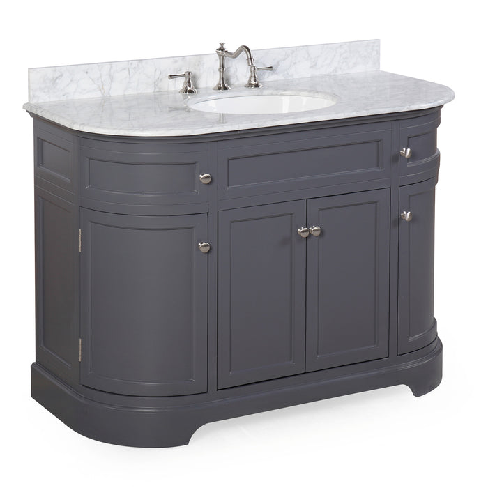 Montage 48-inch Vanity (Carrara/Charcoal Gray)
