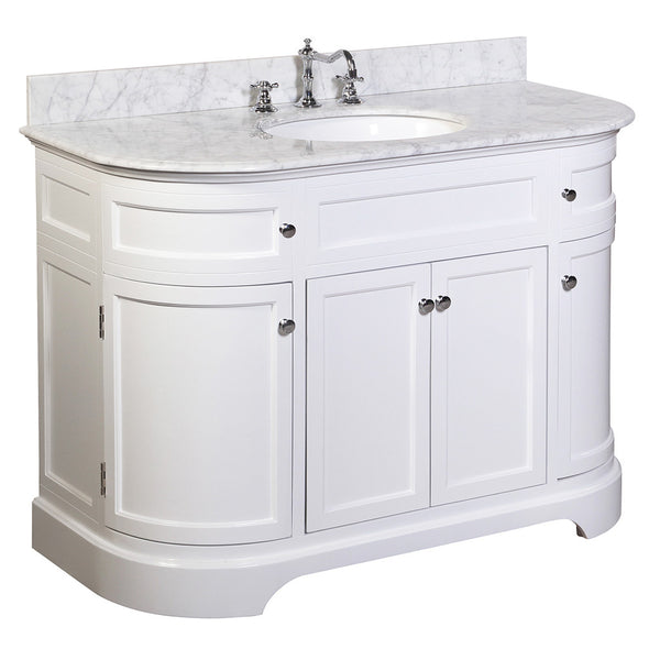 white 48 inch bathroom vanity montage 48 inch vanity carrara white kitchenbathcollection 24592