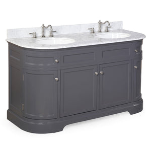 Montage 60-inch Double (Carrara/Charcoal Gray)