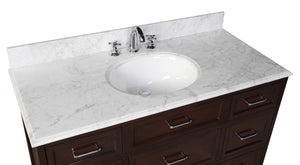 Amelia 48-inch Vanity with Carrara Marble Top
