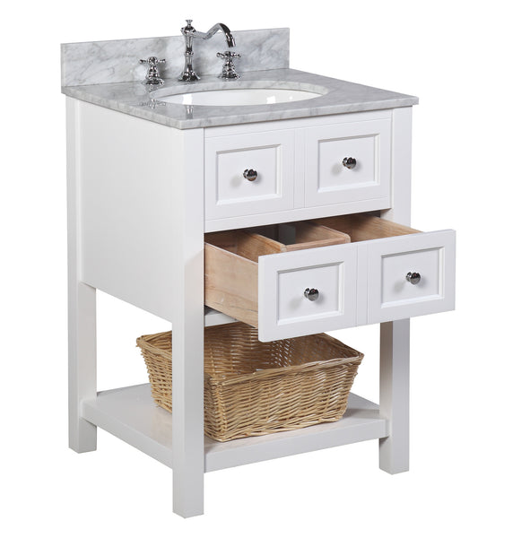 New yorker 24 inch vanity carrara white - Cheap bathroom vanities under 100 ...