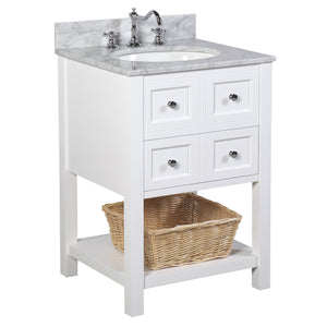 New Yorker 24-inch Vanity (Carrara/White)