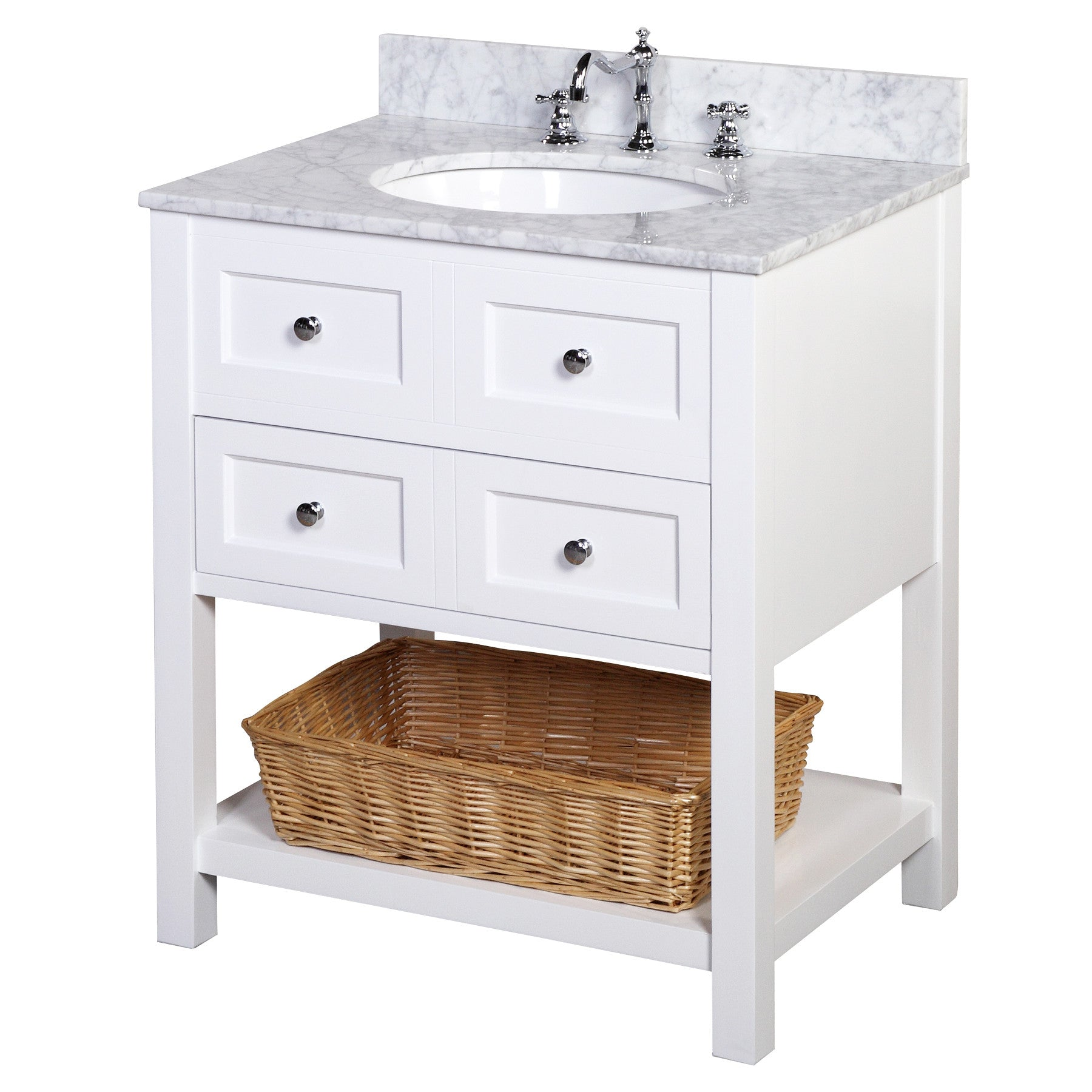 New Yorker Kitchen Cabinets New Yorker 30 Inch Vanity Carrara White Kitchenbathcollection