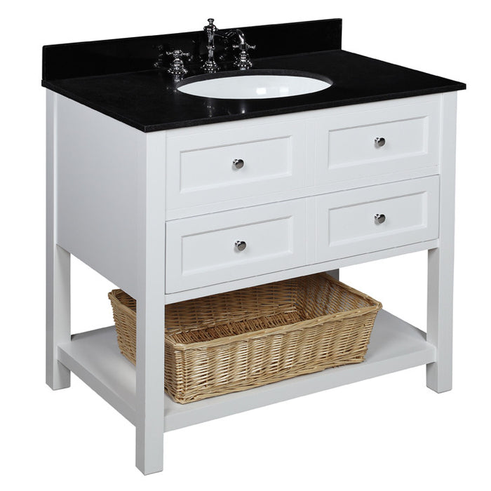 New Yorker 36-inch Vanity (Black/White)