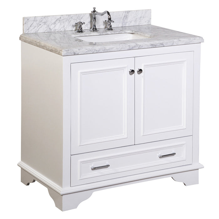 Nantucket 36-inch Vanity (Carrara/White)