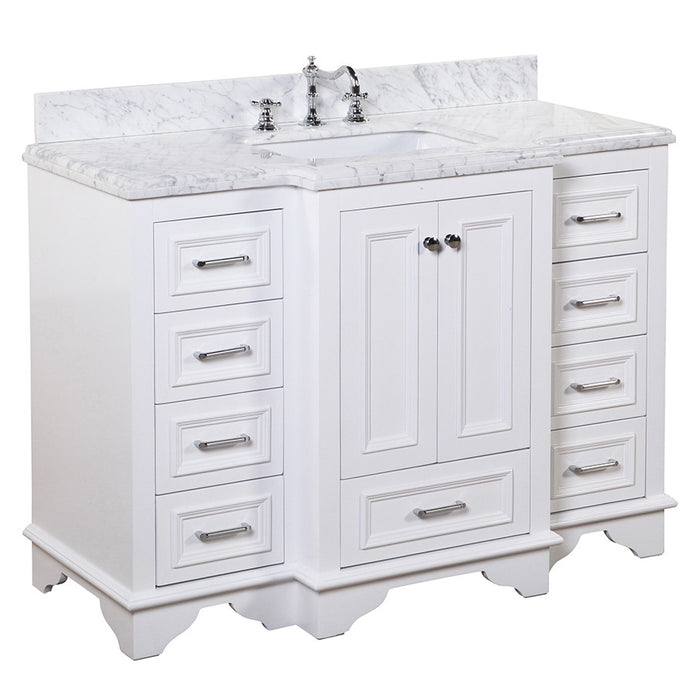Nantucket 48-inch Vanity (Carrara/White)