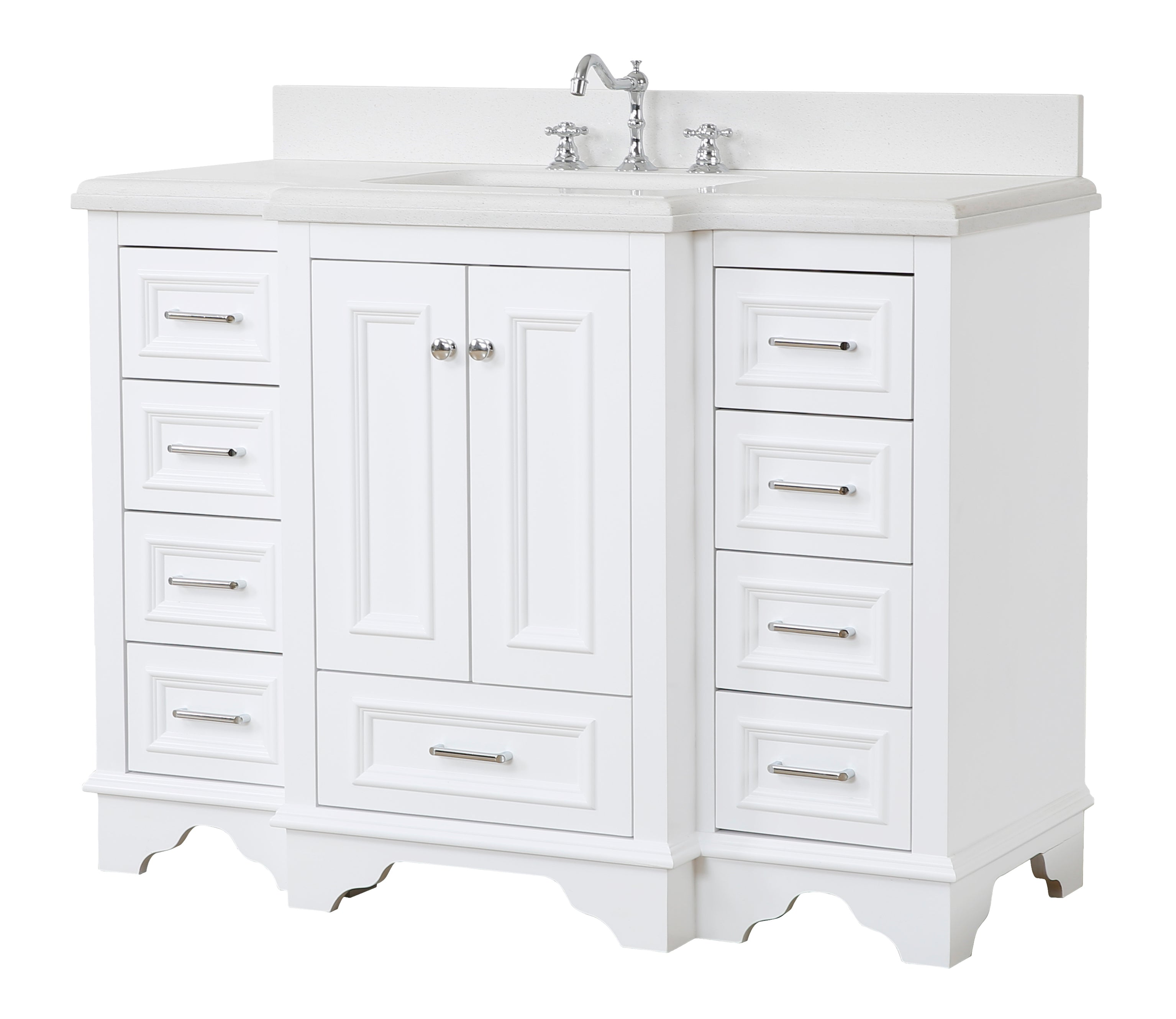 Nantucket 48-inch Vanity (Quartz/White)