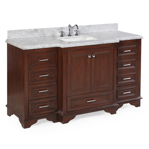 Nantucket 60-inch Single (Carrara/Chocolate)
