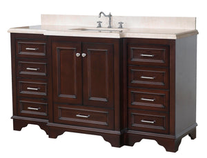 Nantucket 60-inch Single (Crema Marfil/Chocolate)