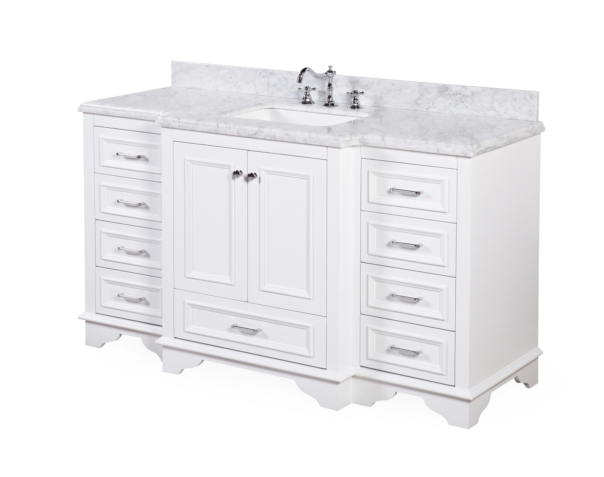 Nantucket 60-inch Single (Carrara/White)
