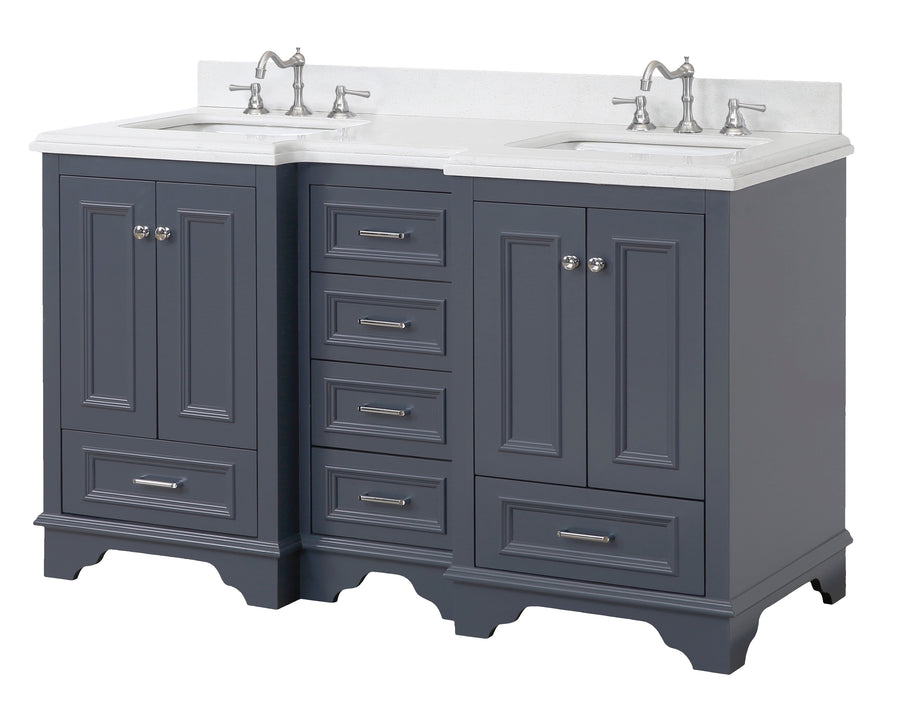 Nantucket 60-inch Double (Quartz/Charcoal Gray)