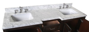 Nantucket 72-inch Vanity (Carrara/Chocolate)