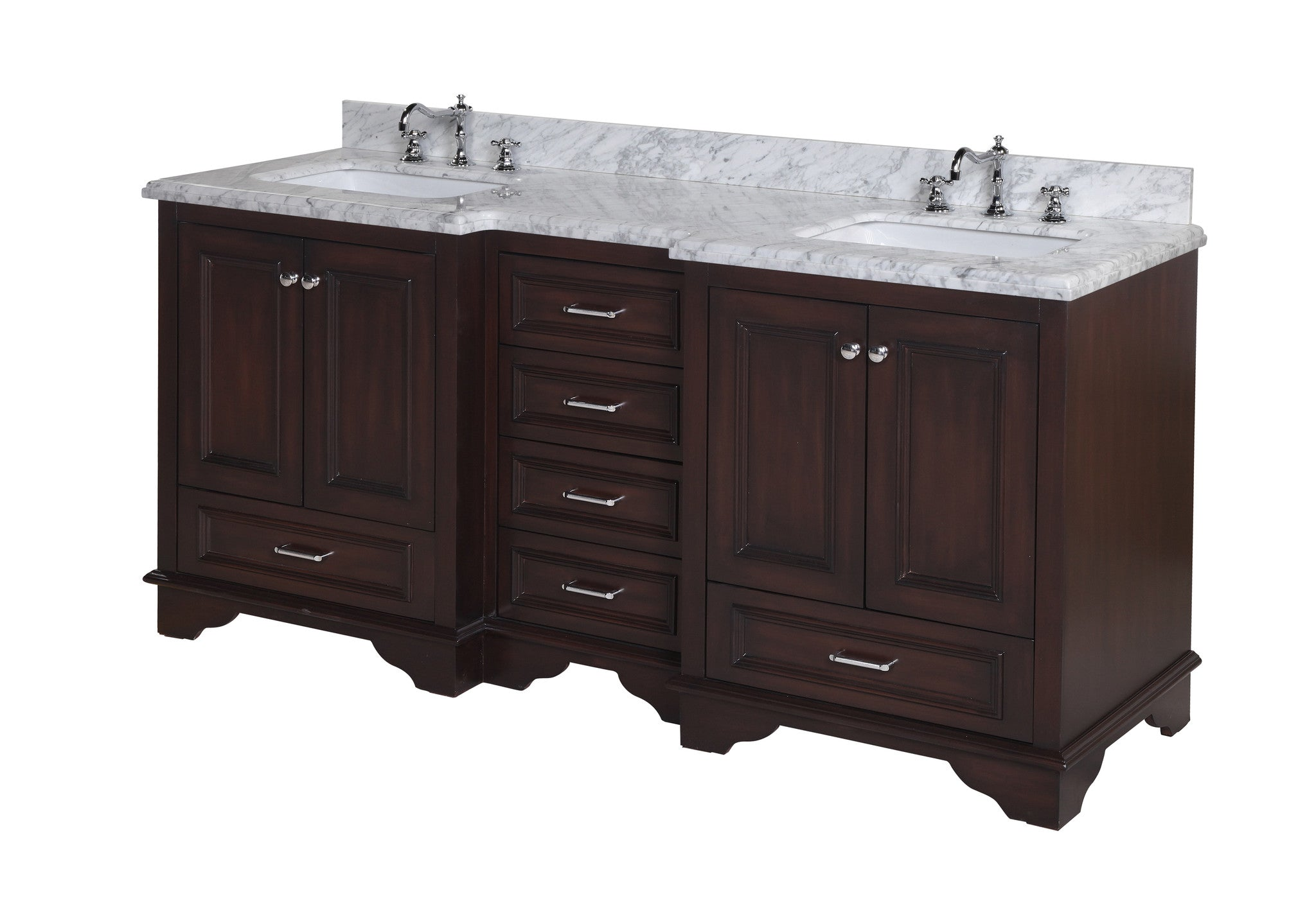 Nantucket 72-inch (Carrara/Chocolate)