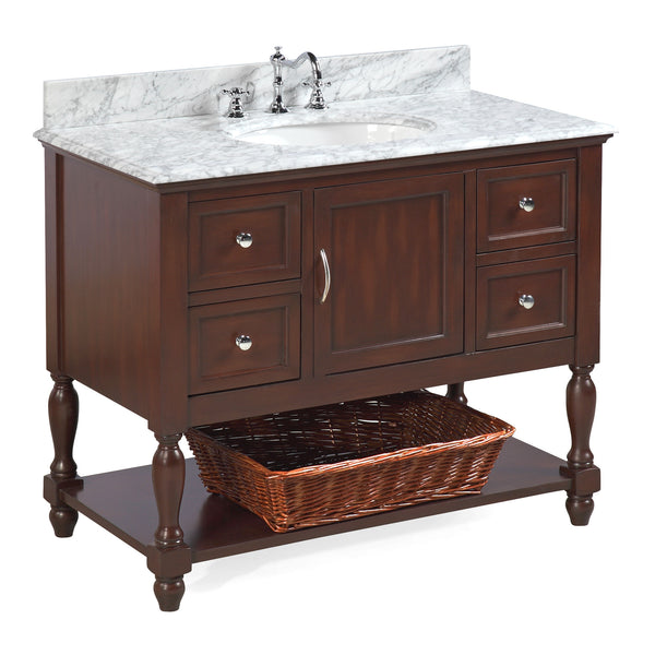 Beverly 42-inch Vanity (Carrara/Chocolate)