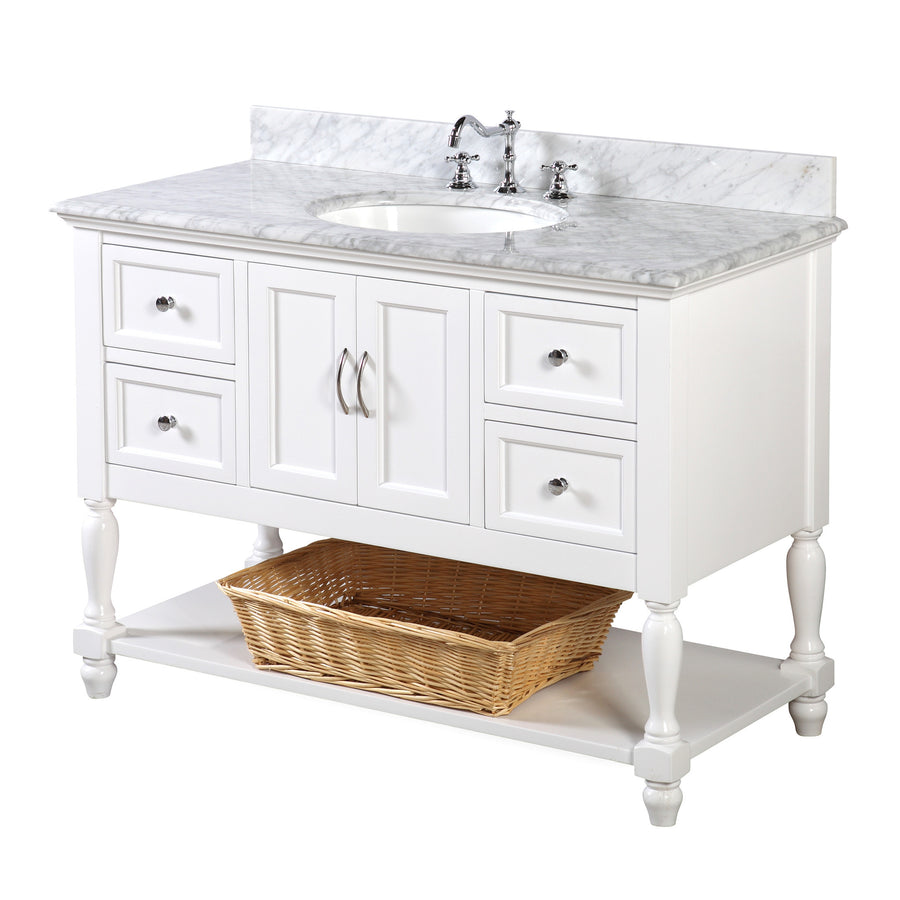 Beverly 48-inch Vanity (Carrara/White)