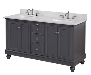 Bella 60-inch Double Vanity with Quartz Top
