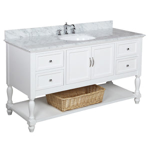 Beverly 60-inch Single (Carrara/White)